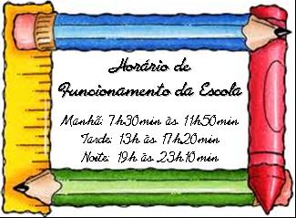 HORÁRIO DE ENTRADA E SAÍDA DOS ALUNOS