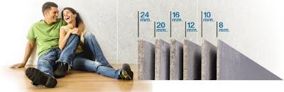 Tấm xi măng cemboard dăm gỗ có độ dày chuẩn như 8mm, 12mm, 15mm, 18mm, 20mm