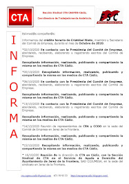 C.T.A. INFORMA CRÉDITO HORARIO CRISTOBAL NIETO, OCTUBRE 2020