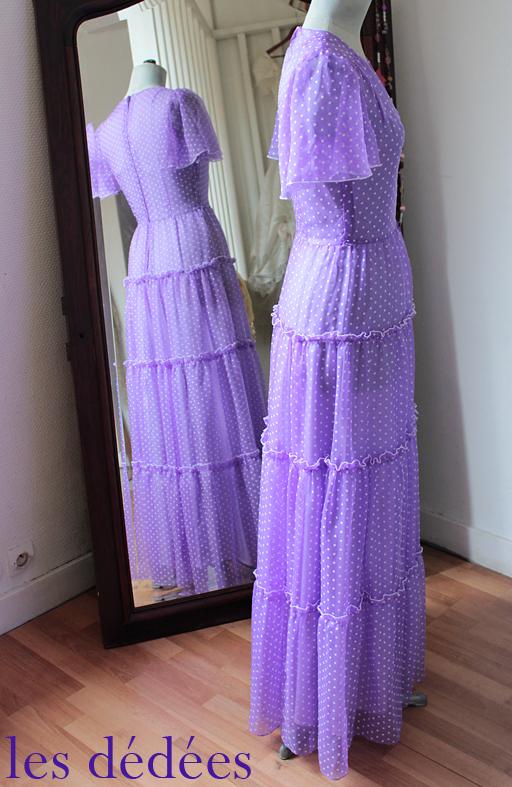Robe de soiree style annee 70