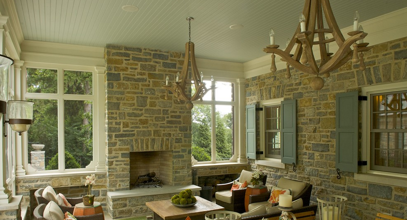 For This Ceiling, Paint Allowed The Homeowner To Match The Beautiful Gray  In Their Stone Exterior