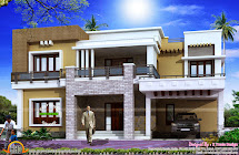 Views Of 2800 Sq-ft Modern Home - Kerala