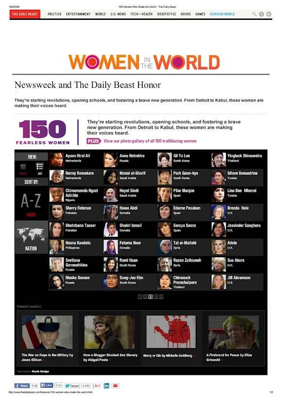 Newsweek and The Daily Beast Honor _ 150 Women Who Shake the World 150 สตรีผู้สะเทือนโลก _  Yingluck Shinawatra