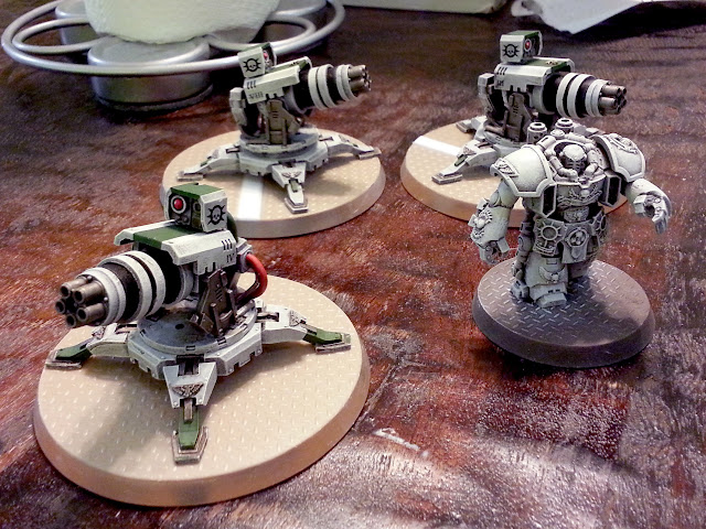 Scratch built thunderfire cannon conversion group bases