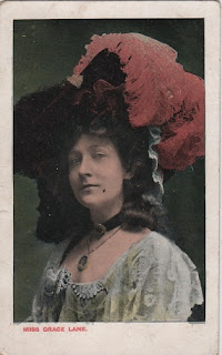 Vintage postcard of Miss Grace Lane