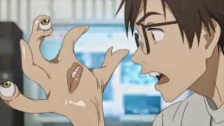 Shinichi Izumi oraz Migi z serialu Kiseijuu: Sei no Kakuritsu