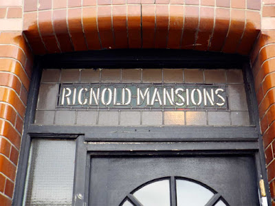 rignold mansions stained glass fanlight stoke newington