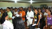 rezando antes da palestra