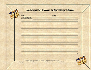 Academic Awards for Literature