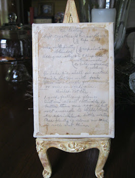 How to preserve an old  written recipe...