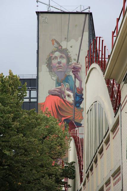 Street Art By Polish Muralist Sainer From Etam Cru In Paris, France. 5