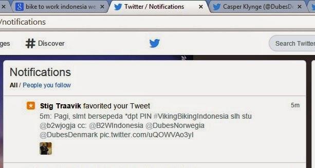 Tweetku difavorit oleh kedubes Norwegia