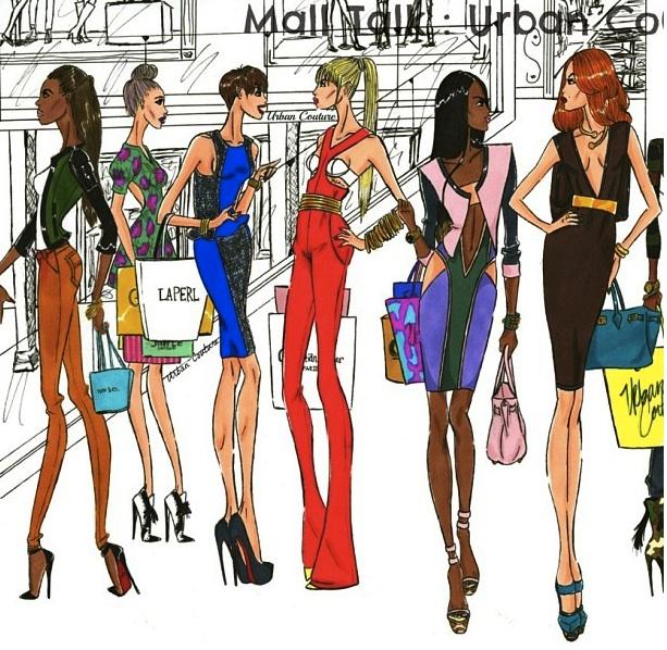 jerron couture fashion illustrations party illustrations