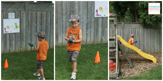 Dino-mite birthday obstacle course