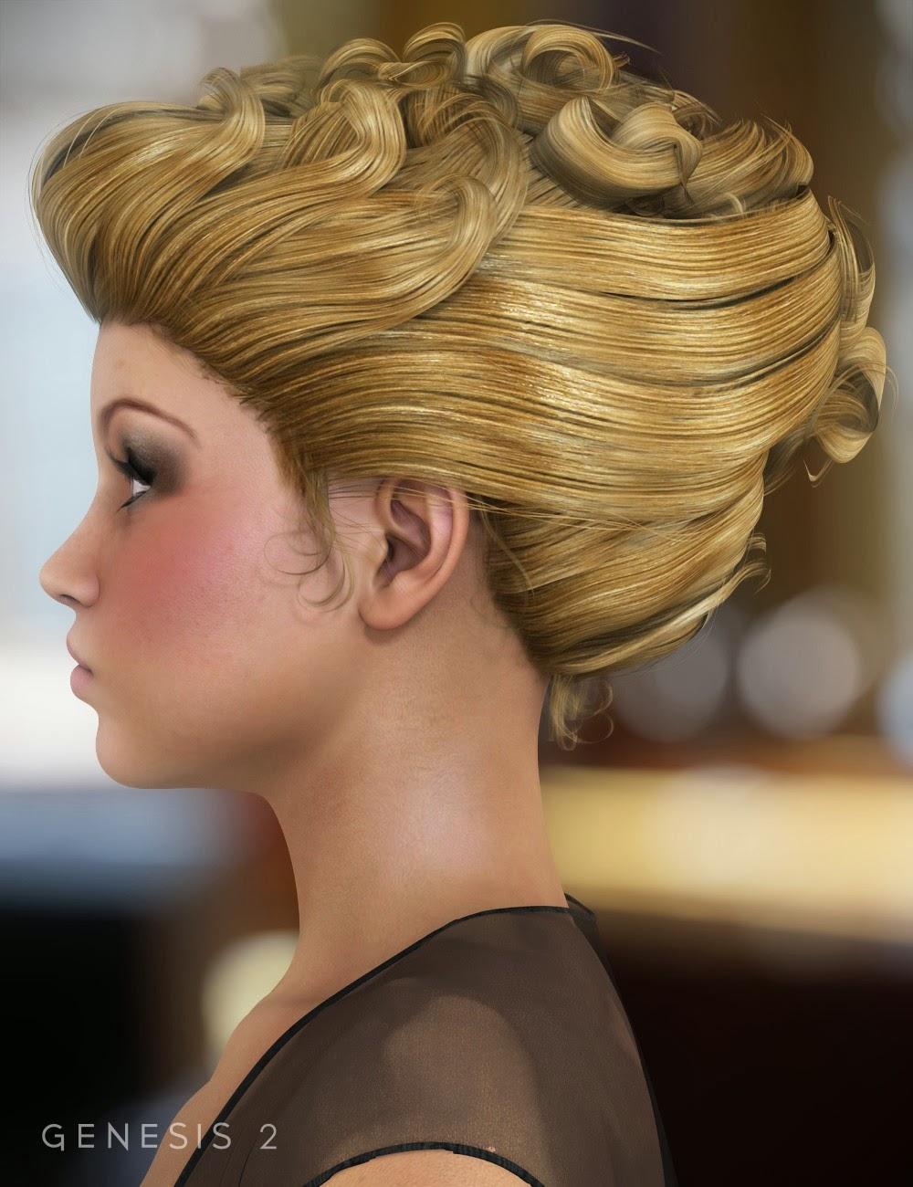 Sultry cheveux pour Genesis et Genesis 2 femelles