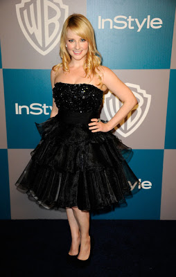 Melissa Rauch Strapless Dress