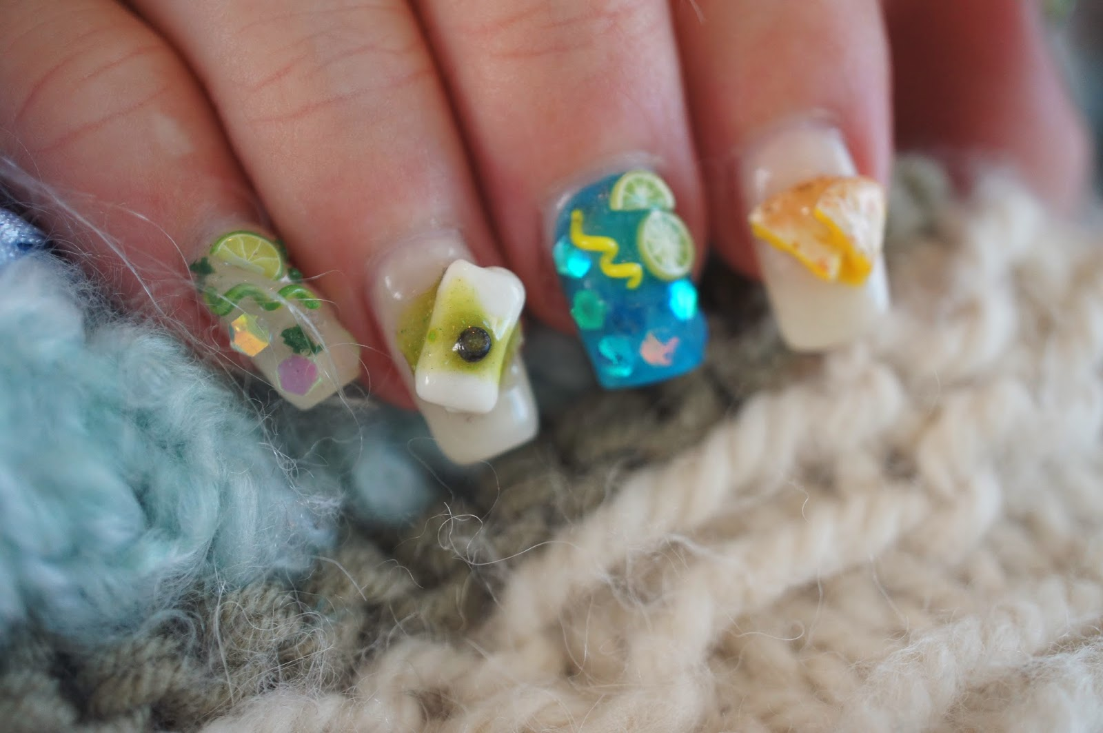 Sweet & Savory Trinkets: Tropical Polymer Clay Nail Art