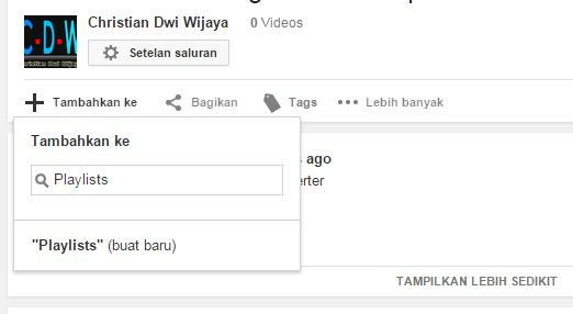 Cara Membuat Playlists Youtube tanpa Login