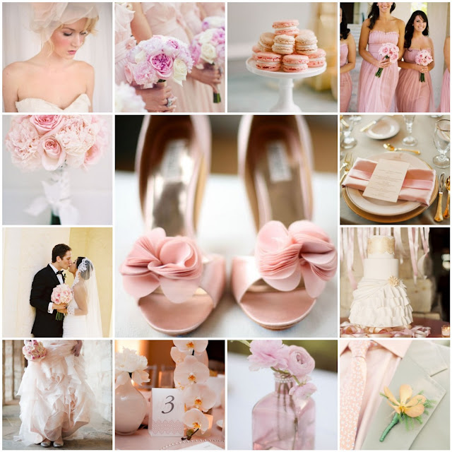 blush colored wedding