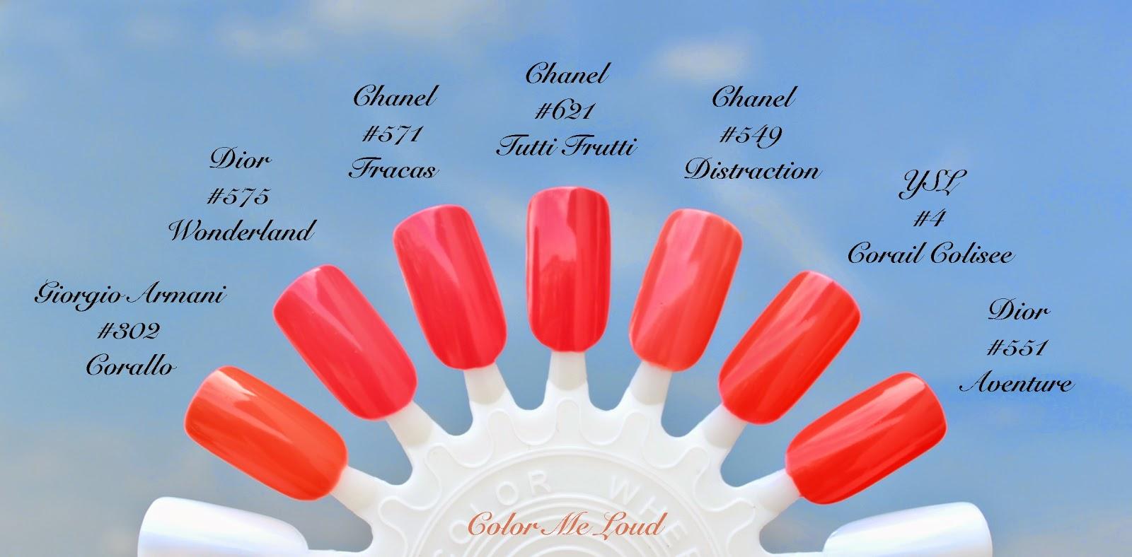 Giorgio Armani 302 Corallo From Bright Ribbon Collection Reviewed Here Is More Orange Chanel Tutti Frutti Now My Favorite Pinkish Coral