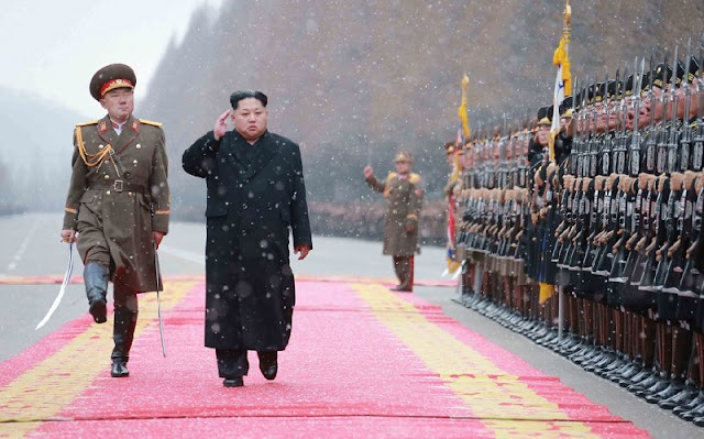 Kim Jong-un inspects the Ministry of the People's Armed Forces