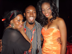 REHEMA OF BANG MAGAZINE AS A MAKE UP ARTIST,SEIF KABELELE AND GENEVEIVE MPANGALA-MISS TANZANIA 2010