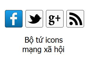 Icons mạng xã hội với hiệu ứng trượt cho Blogger