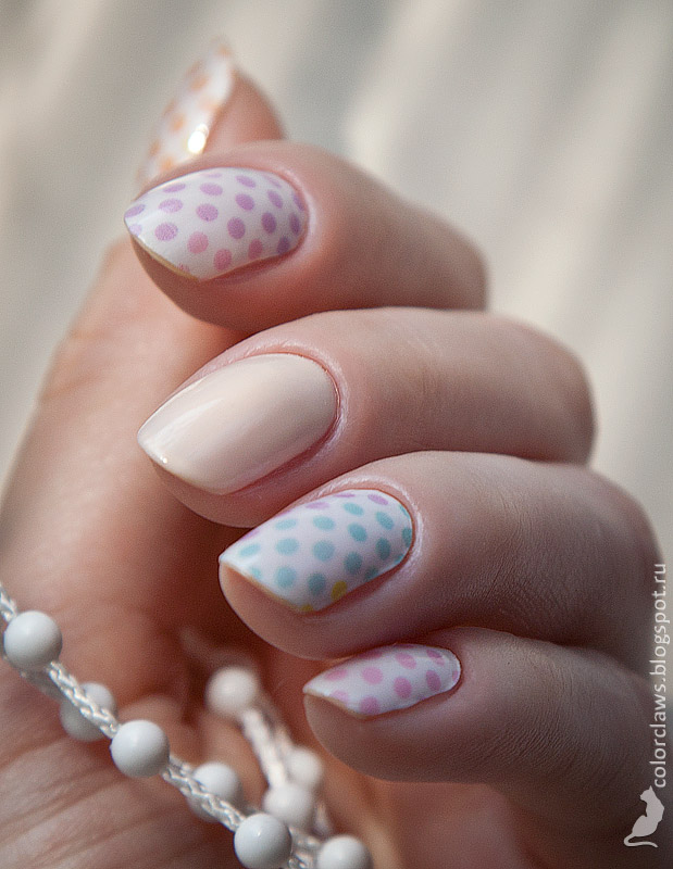 Incoco On the Dot + Orly Pink Nude