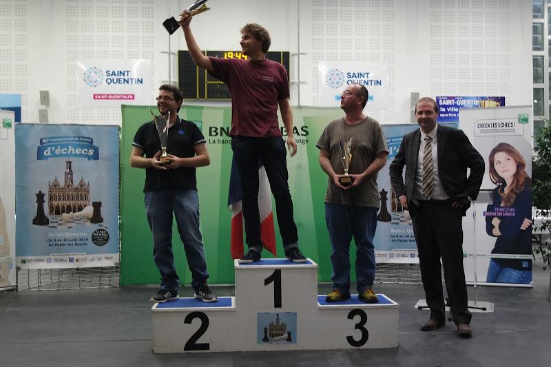 Jean-François Jolly, maître international d'échecs qui vient de se qualifier pour le National 2016 au terme d'un parcours exceptionnel et une 2e place à l'Accession à Saint-Quentin - Photo © FFE
