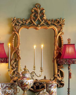 Wonderful garnished small mirror