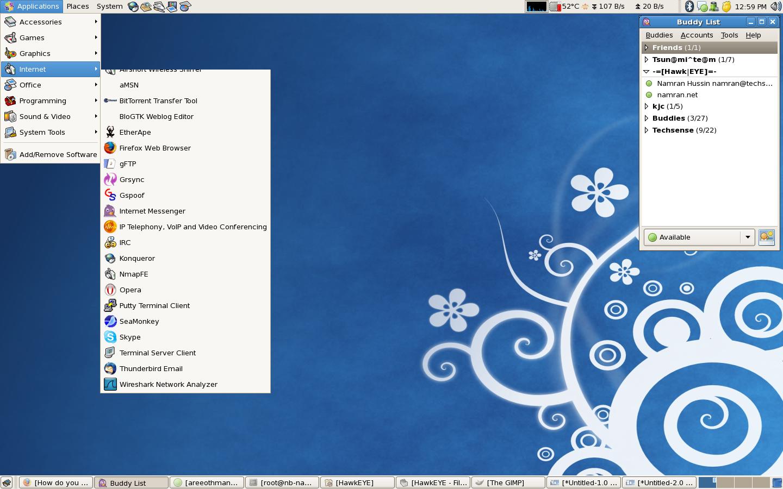 Gambar Desktop CentOs