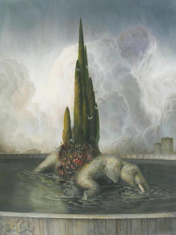 martin wittfooth fountain
