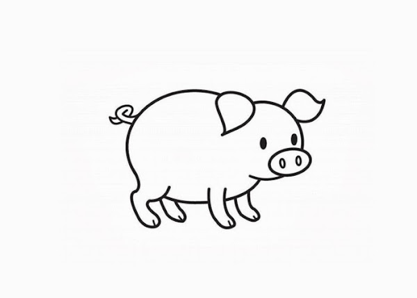 pig coloring pages for preschoolers - photo#34