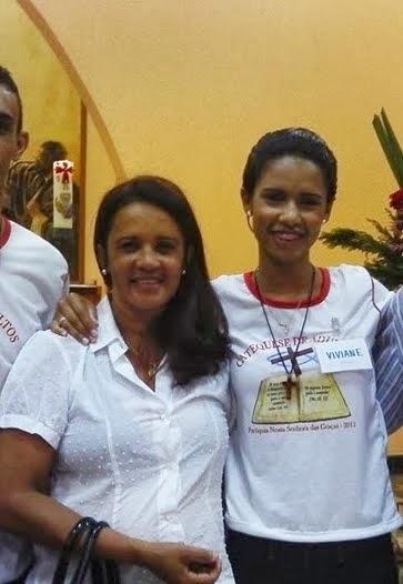 Batismo de minha filha Viviane.