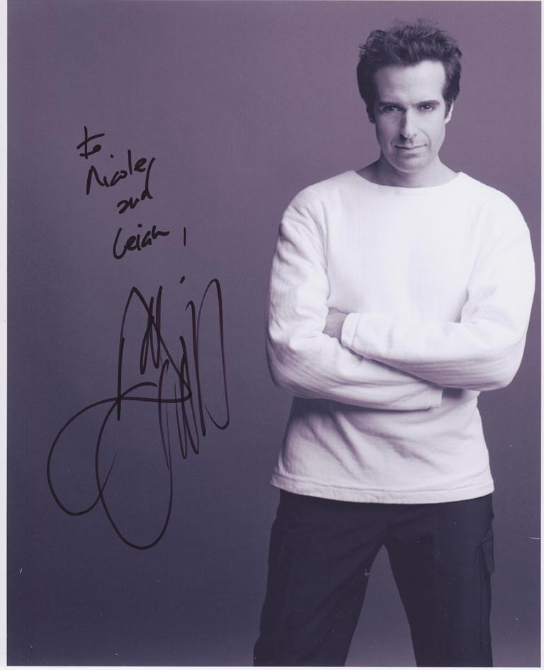 autograph collctor of oz david copperfield the first photo of david is now framed and on the wall next to the poster from the show of his we met at