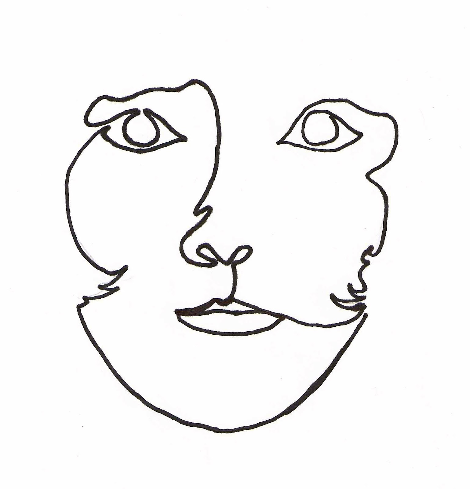 Line Art Face : Jjflair beautiful girl of mine