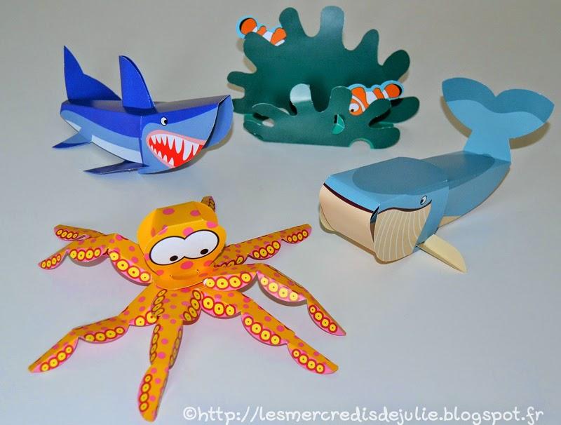 Extrem Les Mercredis de Julie: Pliages - Les animaux de la mer MM71