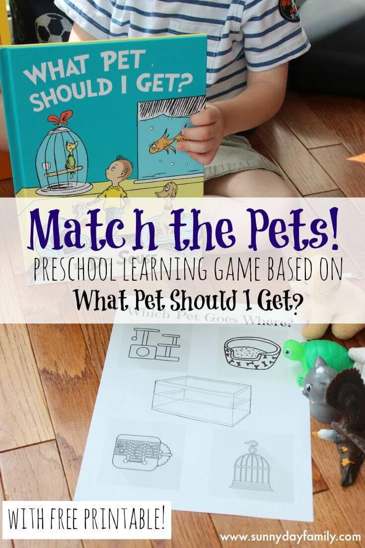 Match the Pets: Preschool Learning Game Based on What Pet Should I ...