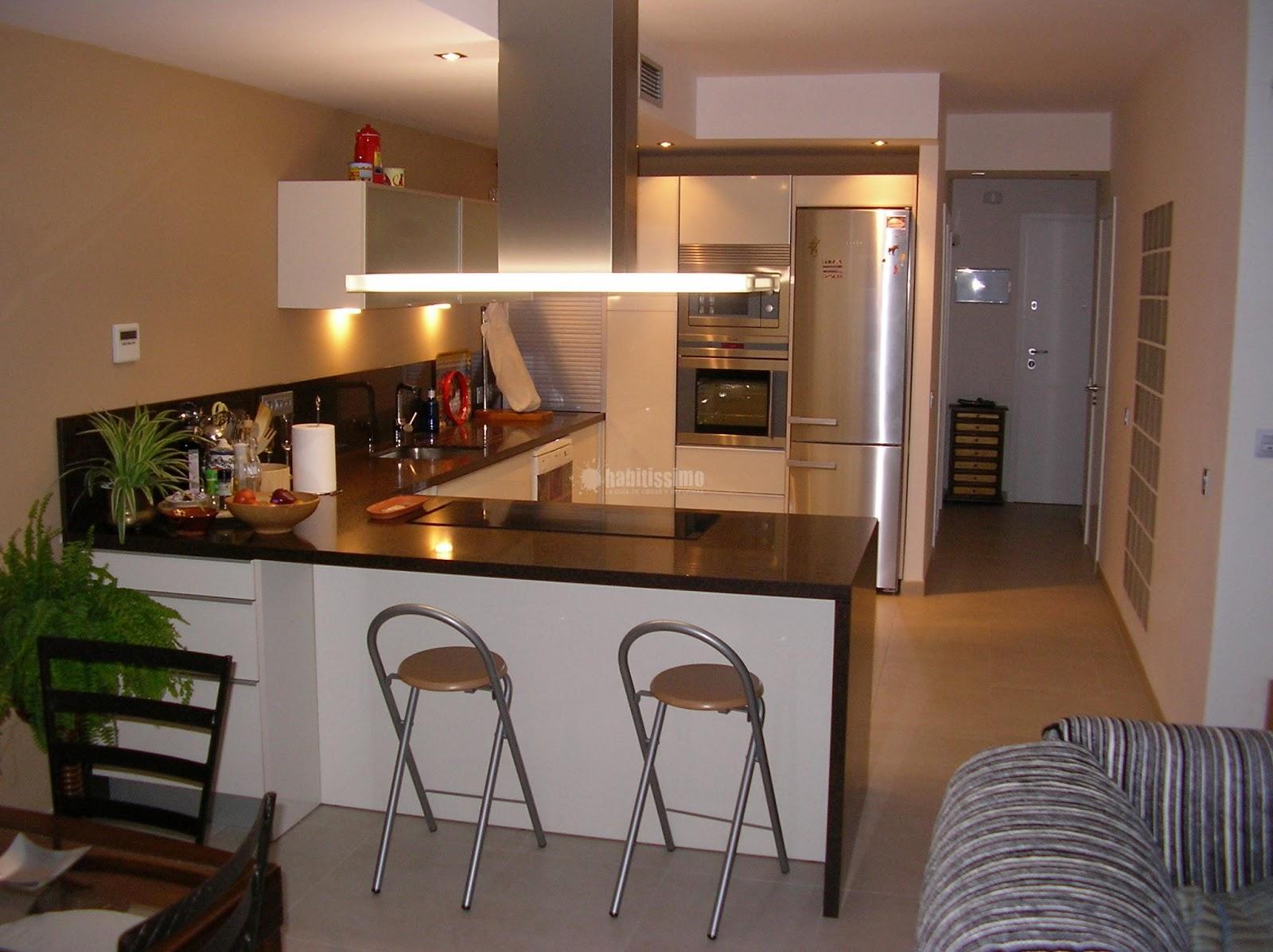 Decorando dormitorios dise o de cocina abierta al comedor for Diseno cocina comedor