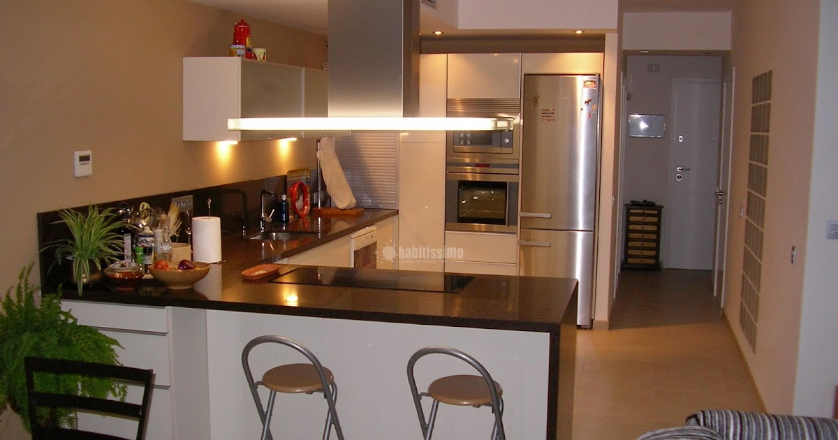 Decorando dormitorios dise o de cocina abierta al comedor for Disenos para departamentos