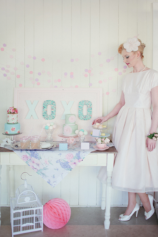pastel+table+styling+and+party+display Polka Dot Bride Pastel Wedding Decor and Interior Inspiration