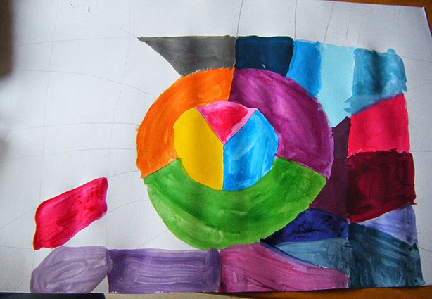 dessin et peinture  u00e0 l u0026 39  u00e9cole  le cercle chromatique