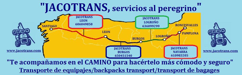 Transporte de mochilas, transporte de equipajes en el Camino de Santiago, luggage transfers