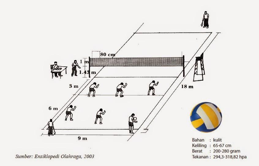 Ukuran Lapangan Bola Voli