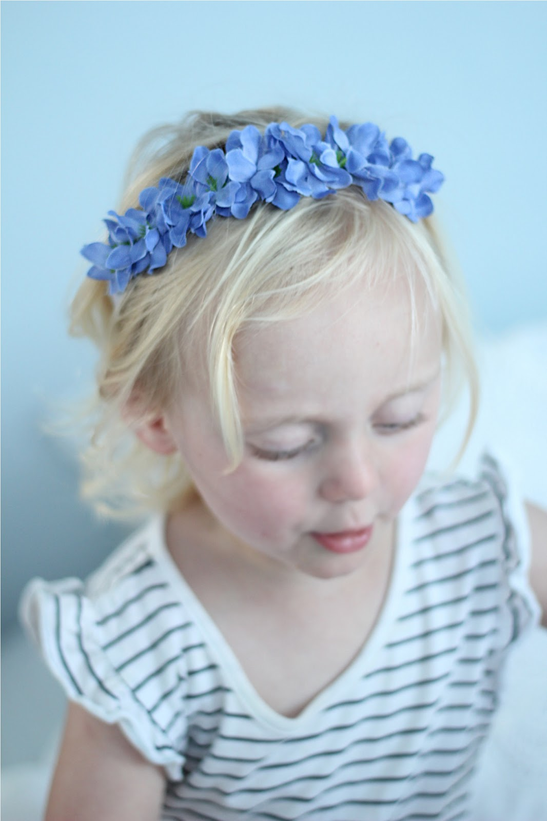 Lover of Vintage diy flower headband