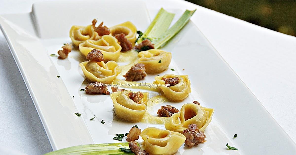 Dolci e salate tentazioni cappelletti su passatina di porro con tastasal all 39 aroma di rosmarino - Appunti dalla mia cucina ...