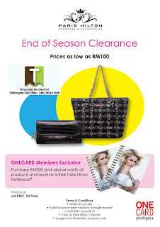 Paris Hilton Handbags & Accessories End of Season Clearance 2013