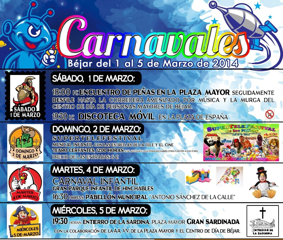 1-2-4-5/Mar: Carnaval. Béjar