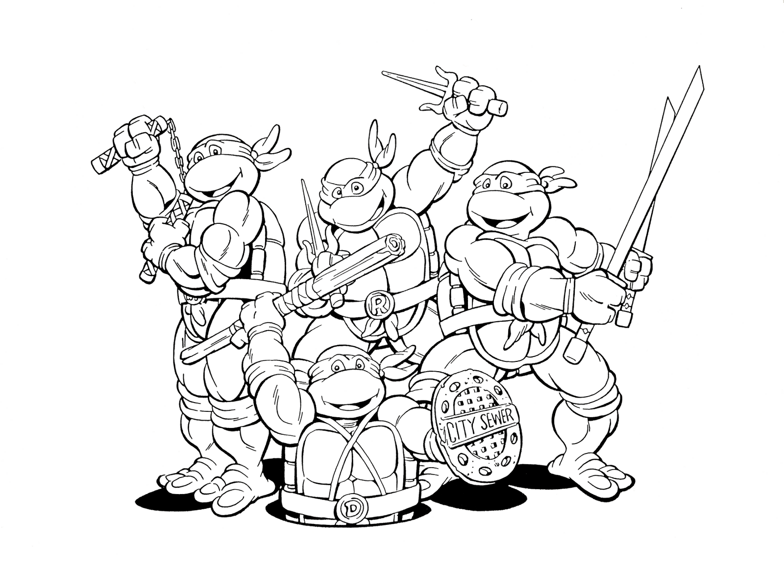 Craftoholic august 2013 for Teenage mutant ninja coloring pages
