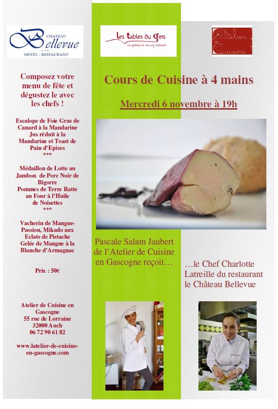 Chateau bellevue cours de cuisine 4 mains for Cuisine 04 mains